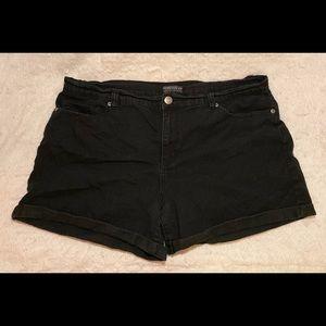 Plus Size Black Jean Shorts